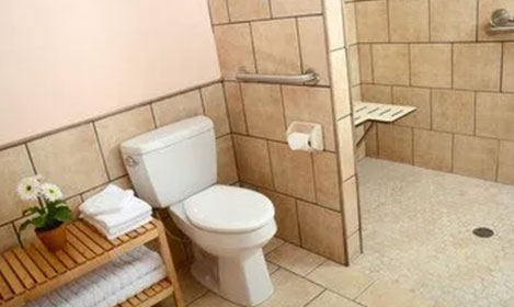 cream coloured bathroom
